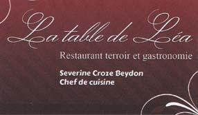 Restaurant la Table de Lea
